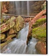 Cascading Waterfall Canvas Print by Douglas Barnett