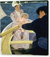 Cassatt: Boating, 1893-4 Canvas Print by Granger