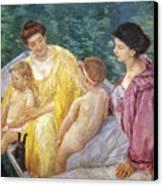 Cassatt: The Swim, 1910 Canvas Print