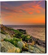 Castle Hill Lighthouse - Newport Rhode Island Canvas Print by Thomas Schoeller
