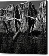 Castle Mountain Panoramic Canvas Print by Brent Mooers