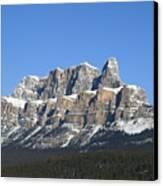 Castle Mountain Winter Canvas Print