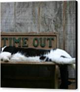 Cat Time Out Canvas Print