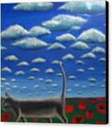 Cat Who Walks Alone Canvas Print