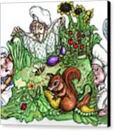 Catch-a-squirrel Canvas Print by Rae Chichilnitsky