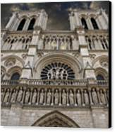 Cathedral Notre Dame Of Paris. France   Canvas Print by Bernard Jaubert