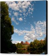 Cathedral Rock One Canvas Print by David Sunfellow