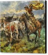 Cattle Canvas Print by Shimi Gasaba