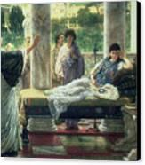 Catullus Reading His Poems Canvas Print