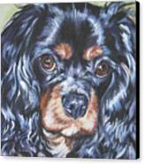 Cavalier King Charles Spaniel Black And Tan Canvas Print by Lee Ann Shepard