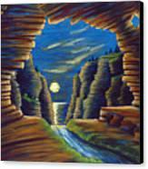 Cave With Cliffs Canvas Print by Jennifer McDuffie