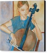 Cello Practice Iv Canvas Print
