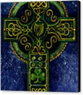 Celtic Cross - Harp Canvas Print