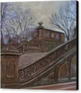 Central Park Bethesda Staircase Canvas Print