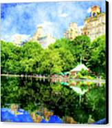 Central Park Canvas Print by Julie Lueders