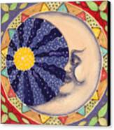 Ceramic Moon Canvas Print by Anna Skaradzinska