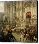 Ceremonial Reception Canvas Print by Adolf Jossifowitsch Charlemagne