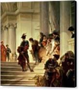 Cesare Borgia Leaving The Vatican Canvas Print by Giuseppe Lorenzo Gatteri