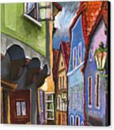 Cesky Krumlov Old Street 1 Canvas Print