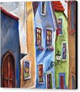 Cesky Krumlov Old Street Canvas Print