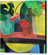 Cezanne Potting Stand Canvas Print by Betty Pieper