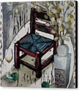 Chair X Canvas Print by Peter Allan