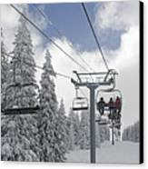 Chairlift At Vail Resort - Colorado Canvas Print