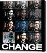 Change  - Barack Obama Canvas Print by Valerie Wolf