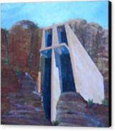 Chapel In The Mountains Canvas Print