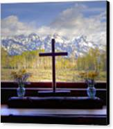 Chapel With A View Canvas Print by Charles Warren