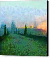 Charles Bridge At Dawn Canvas Print by Peter Kupcik