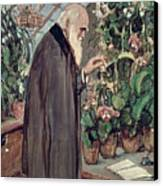 Charles Robert Darwin Canvas Print by John Collier