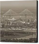 Charleston South Carolina Aerial Canvas Print by Dustin K Ryan