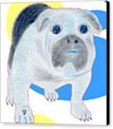 Charlie The Bulldog Canvas Print