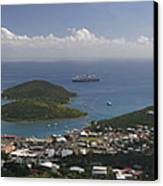 Charlotte Amalie From Above Canvas Print