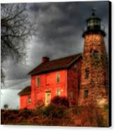 Charlotte-genesee Lighthouse  Canvas Print by Joel Witmeyer