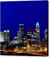 Charlotte Nc Skyline At Dusk Canvas Print