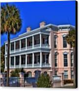 Charlston Battery Mansion Canvas Print by Corky Willis Atlanta Photography
