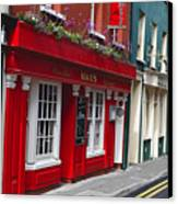 Charming Narrow Street In Kinsale Canvas Print