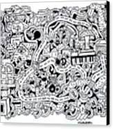 Chasen' Jason Canvas Print by Chelsea Geldean