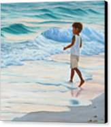 Chasing The Waves Canvas Print by Lea Novak