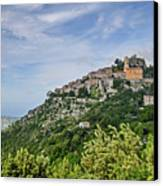 Chateau D'eze On The Road To Monaco Canvas Print by Allen Sheffield