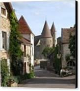 Chateauneuf En Auxois Burgundy France Canvas Print by Marilyn Dunlap
