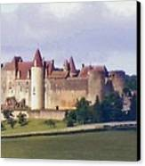 Chateauneuf En Auxois France Canvas Print by Marilyn Dunlap