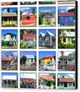 Chattel Houses Of Barbados Canvas Print