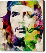 Che Guevara Urban Watercolor Canvas Print