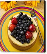 Cheesecake With Fruit Canvas Print by Garry Gay