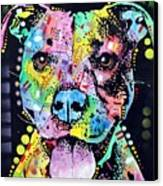 Cherish The Pitbull Canvas Print by Dean Russo