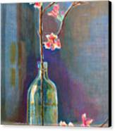 Cherry Blossoms In A Bottle Canvas Print