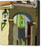Chesky Krumlov Old Street Latran  Canvas Print